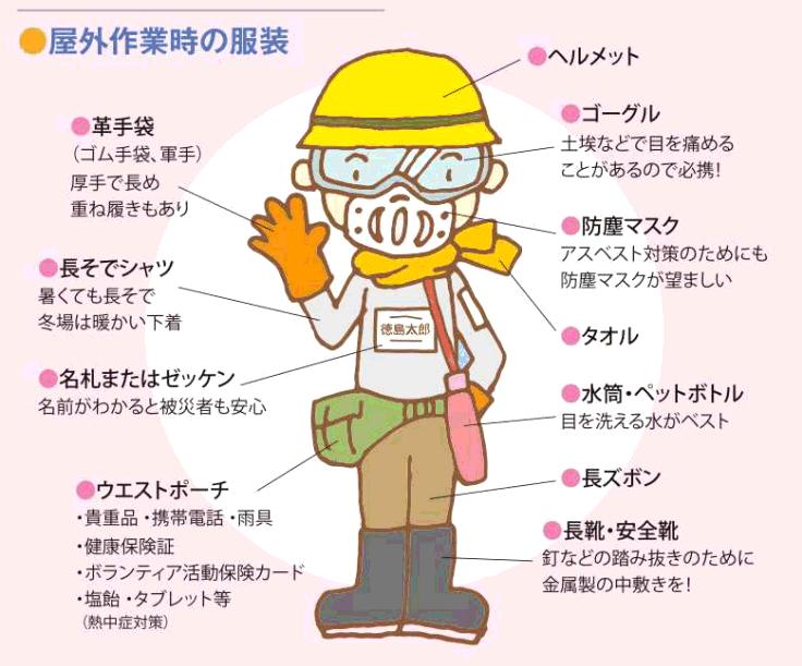 外部活動服装